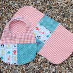 Bib, burp cloth and bootie ..