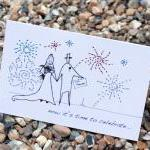 A6 Wedding fireworks card (..
