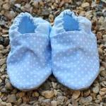 Baby Booties - Pale blue mi..
