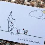 A6 Walk in the park card (a..