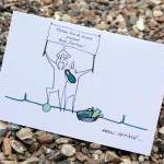 A6 Personalised baby card (anonymit..