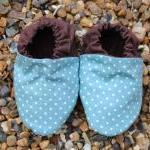 Baby booties, Aqua mini spo..
