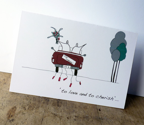 Wedding car card (Anonymity range)