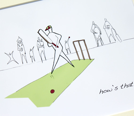 "Cricket Anonymity Illustrative print (10"" x 12"" / 255mm x 305mm)"