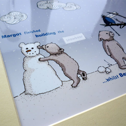 "Snowbear illustrative print - 8.5"" x 6.5"" / 215mm x 165mm"
