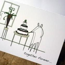Wedding cake card (Anonymity range)