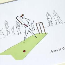 Cricket Anonymity Illustrative print (10&quot; x 12&quot; / 255mm x 305mm)