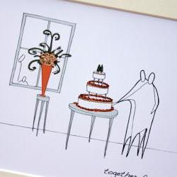Wedding cake, Anonymity Illustrative print (10&quot; x 12&quot; / 255mm x 305mm)