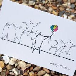 A6 Party time card (anonymity range)