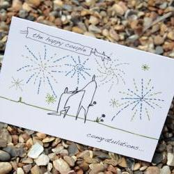 A6 Engagement card personalised (anonymity range)