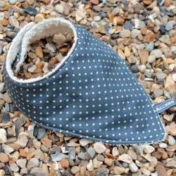 Bandana dribble bib - mini spots seaweed green