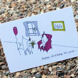 A6 Birthday chair card (anonymity)